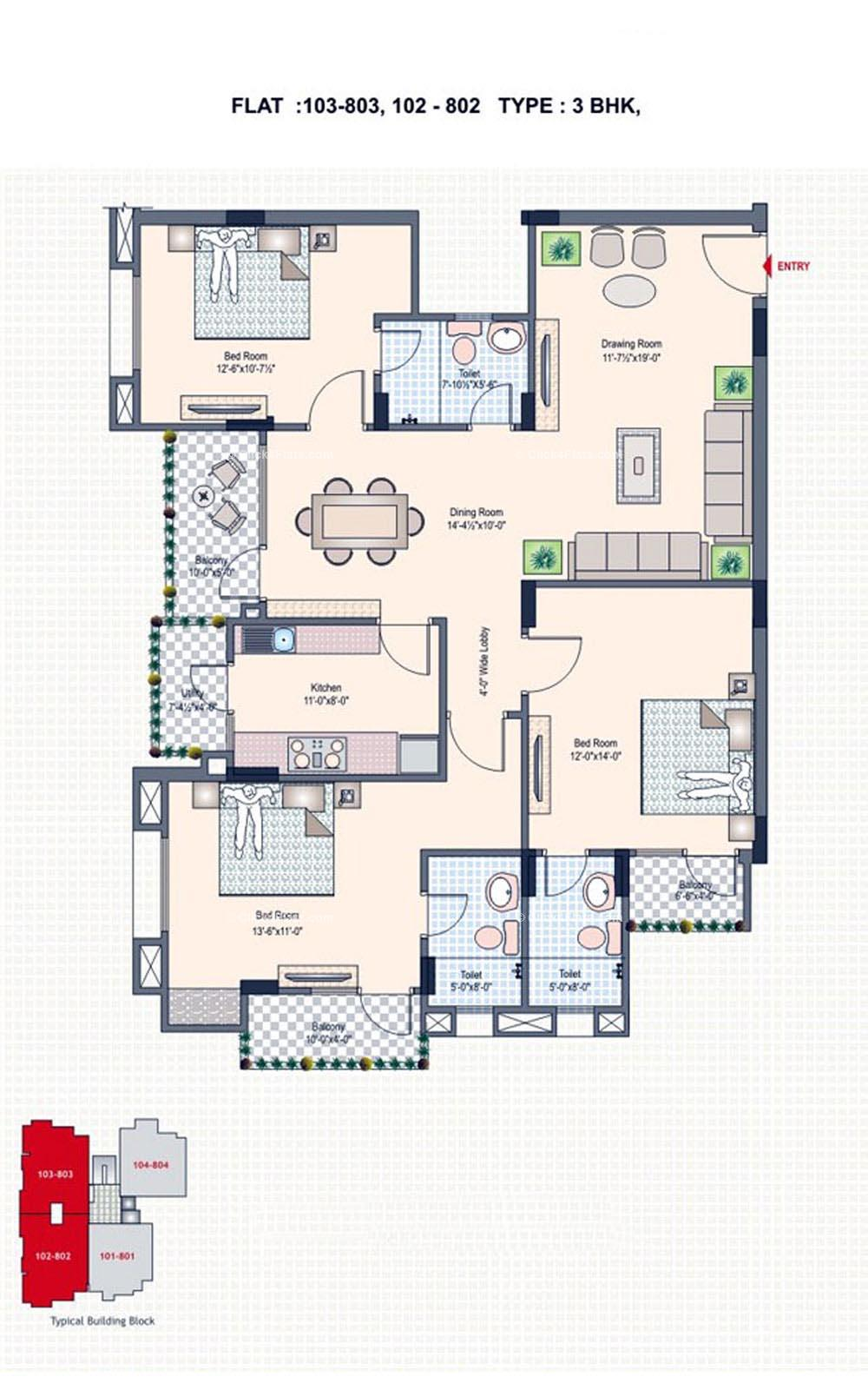 Silver Spring 3 BHK