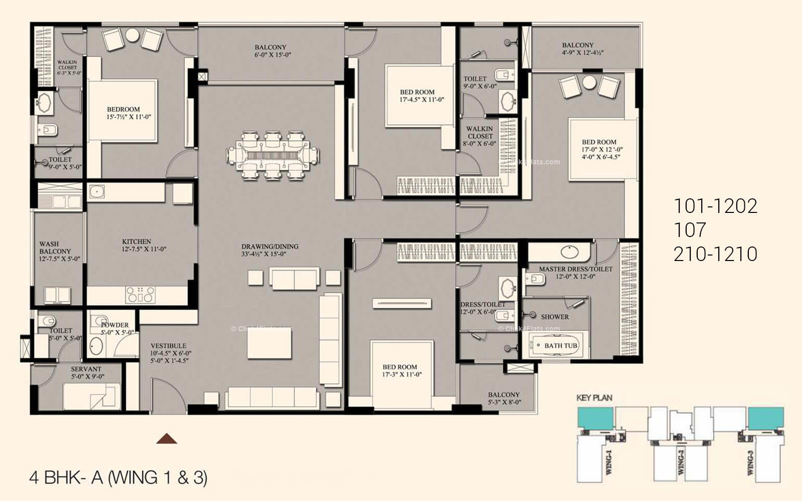The Crest First Stone 4 BHK 3316 square feet