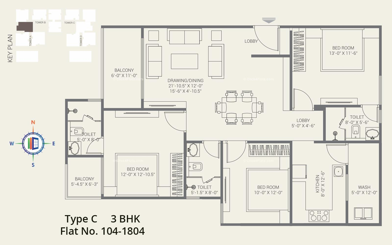 The Crown 3 BHK