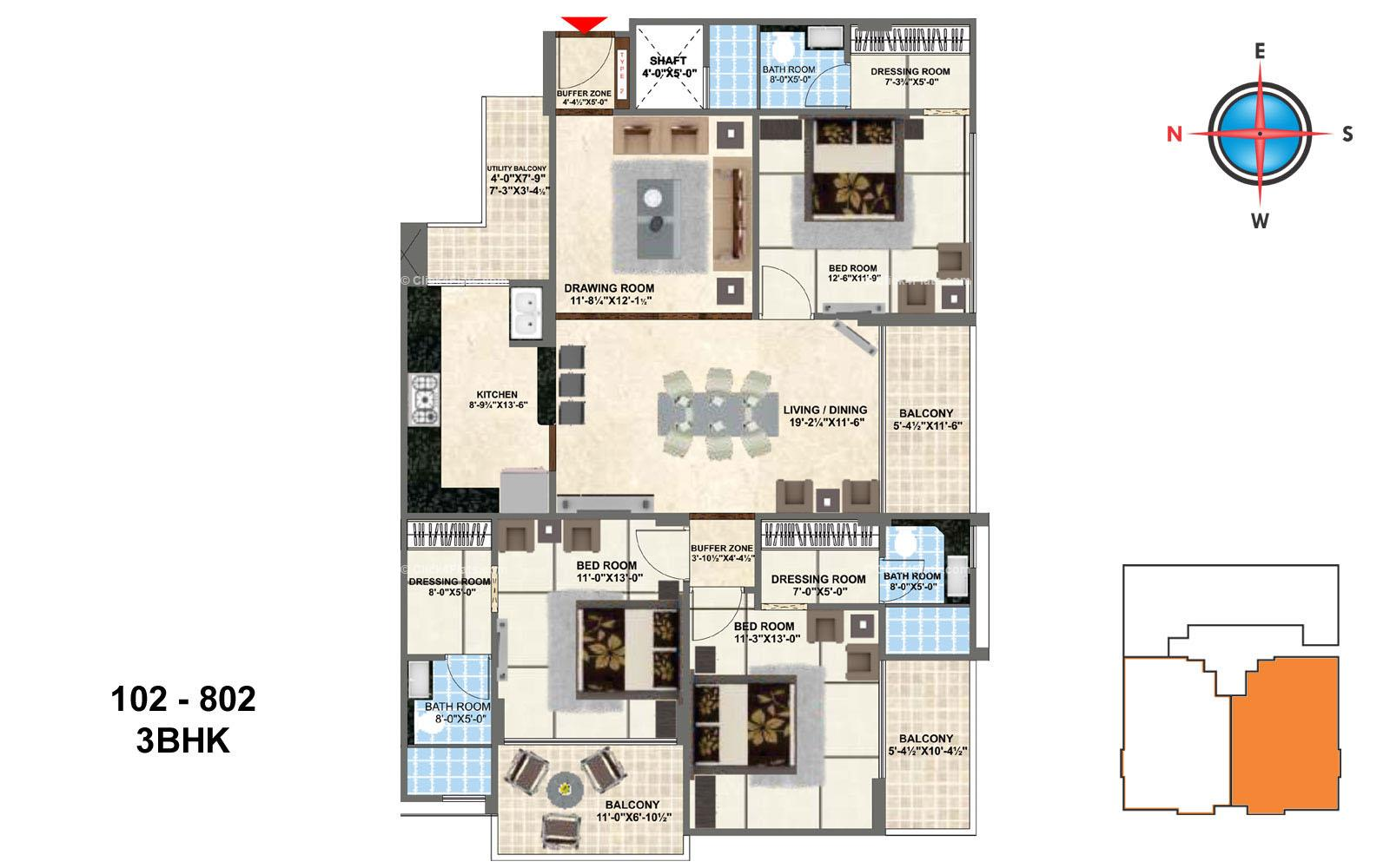 Kings Landing 3 BHK
